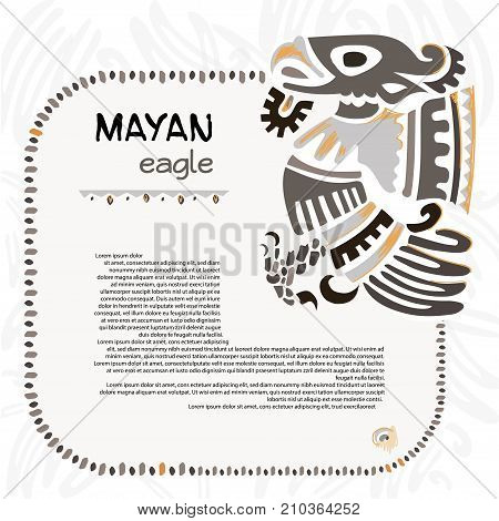 Abstract maya and aztec symbol of an eagle fo your designe