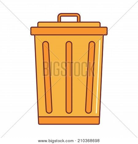 Trash bin icon. Cartoon illustration of Trash bin vector icon for web on white background
