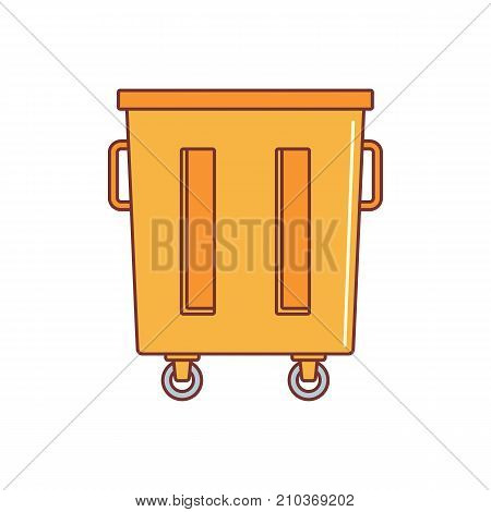 Trash container icon. Cartoon illustration of Trash container vector icon for web on white background