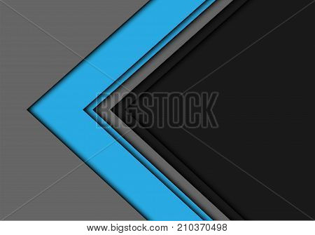 Abstract blue arrow overlap on gray blank space for text place background design modern futuristic background vector illustration.