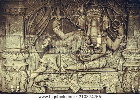 Ganesha God of successful Elephant god of hindu