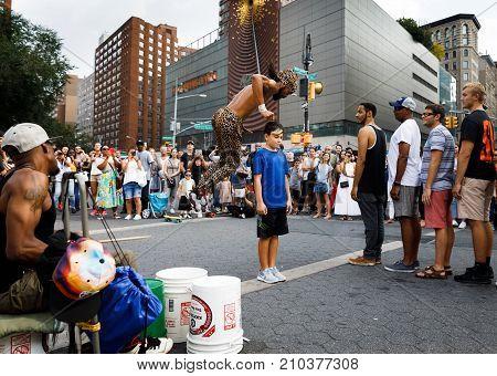 Street Dancers At Union Square In Manhattan