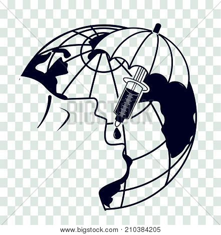 Silhouette On World Polio Day