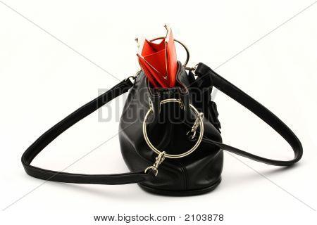 Red Wallet In Bag