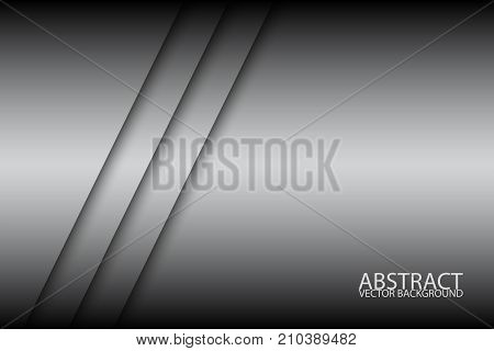 Abstract background with two grey stripes oblique lines grey creative vector background