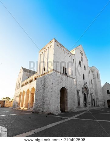 Basilica di San Nicola in Bari Italy where most of the relics of Saint Nicholas are kept today. Because of the many miracles he is also known as Nikolaos the Wonderworker.