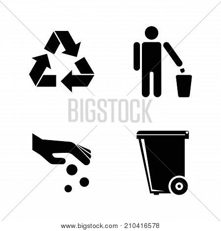 Purity. Simple Related Vector Icons Set. Black Flat Illustration on White Background. poster