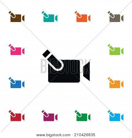 Photography Vector Element Can Be Used For Cinematography, Film, Photography Design Concept.  Isolated Cinematography Icon.