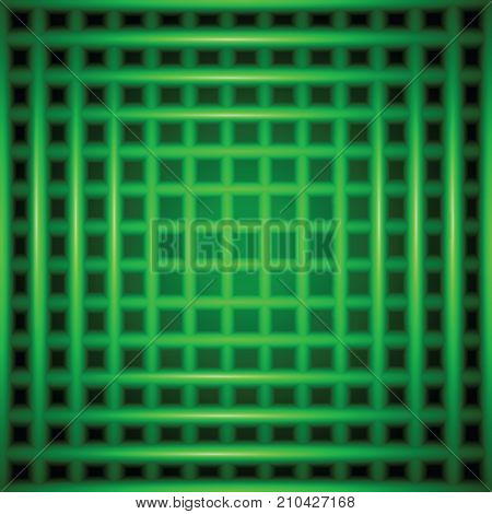 colorful illustration with green blurred checkered background