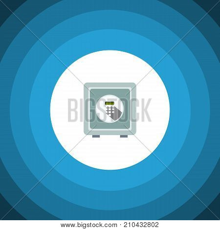 Safe Vector Element Can Be Used For Safe, Strongbox, Security Design Concept.  Isolated Security Flat Icon.