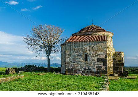 Medieval Church of Santa Sabina in the Province of Sassari, Sardinia, Italy.