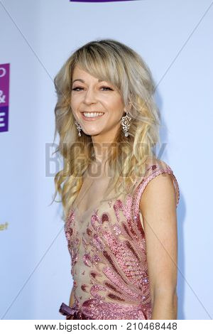 Lindsey Stirling arrives at the taping of