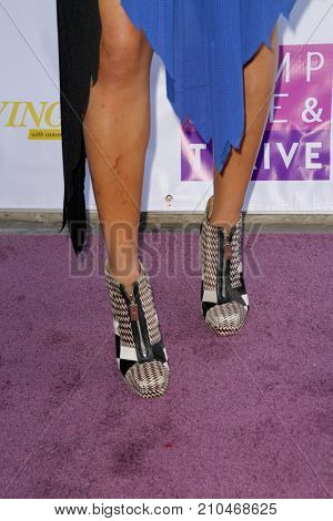 Judith Hill arrives in fashionable shooes at the taping of