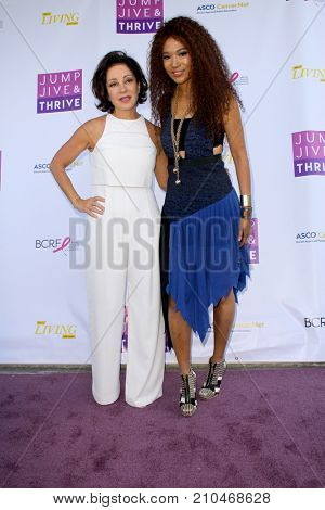 Valorie Kondos Field and Judith Hill arrives at the taping of