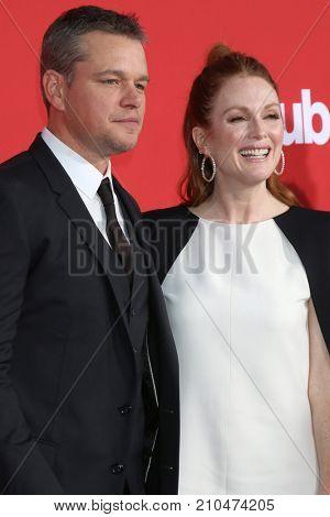 LOS ANGELES - OCT 22:  Matt Damon, Julianne Moore at the