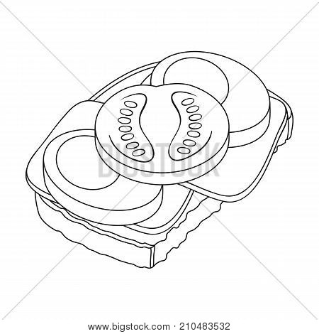 Sandwiches, single icon in outline style.Sandwiches, vector symbol stock illustration .