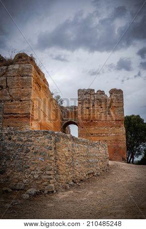 Detail of the ruins of Paderne Castle in Algarve region - Portugal