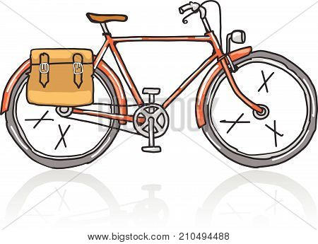 Old school bicycle vector illustration clip-art image eps