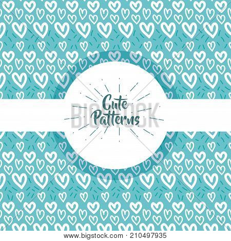 cute patern abstract geometric background design vector illustration