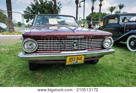 Plymouth Valiant 1964 Presented On Annual Oldtimer Car Show, Israel