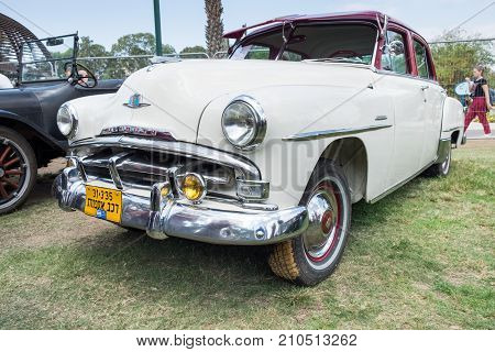 Plymouth Cranbrook 1951 Car Presented On Annual Oldtimer Car Show, Israel