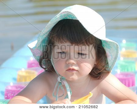 Portrait of baby on the beach