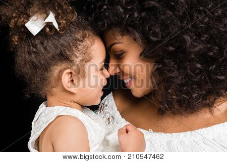 Mother And Daughter Looking At Each Other