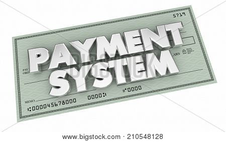Payment System Check Accounting Process Procedure 3d Illustration