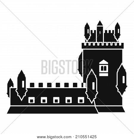 History castle icon. Simple illustration of history castle vector icon for web