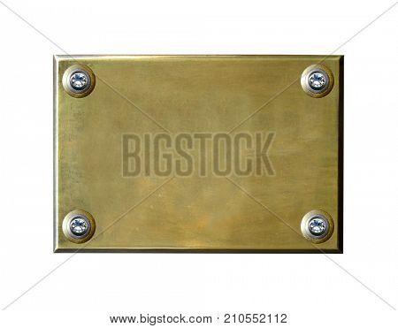 Grunge bronze. Metal background. Golden plaque. Bronze plaque.