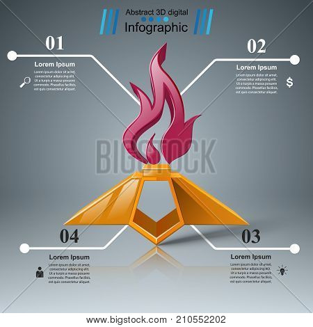 Eternal flame - business infographic. Vector eps 10