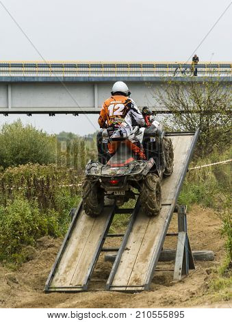 Entrance To A Moving Ramp On A Quad Bike.
