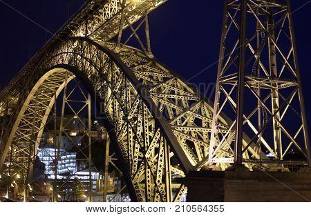 The Dom Lu s I Bridge is a double-deck metal arch bridge that spans the River Douro between the cities of Porto and Vila Nova de Gaia in Portugal.