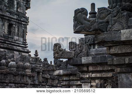 Ancient ruins of the Prambanan Temple in Yogyakarta