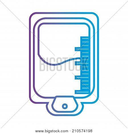 line medicine transfusion element treatment vector illustration