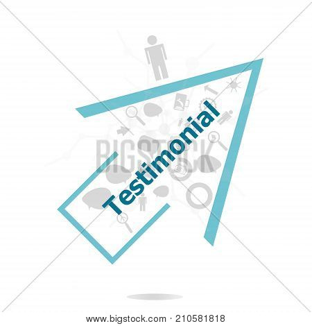 Text Testimonial. Business Concept . Data Protection And Secure Elements Inforgaphic Set