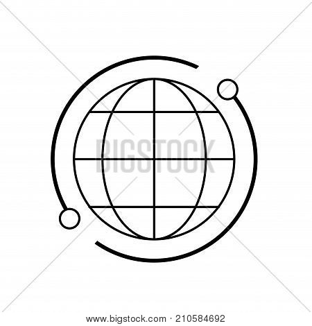 line global map connection digital technology vector illustration