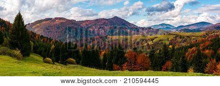 Beautiful Panorama Of Mountainous Rural Area