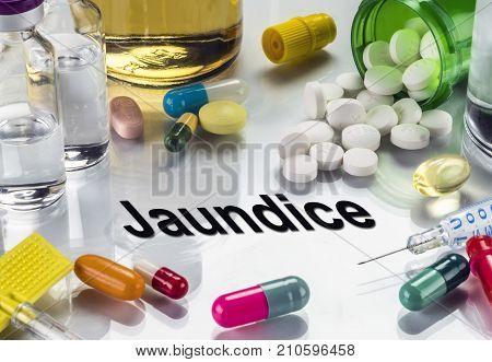 Jaundice, Medicines As Concept Of Ordinary Treatment, Conceptual Image