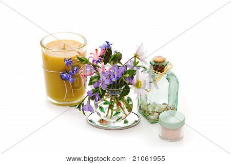 Beauty Product With Flowers