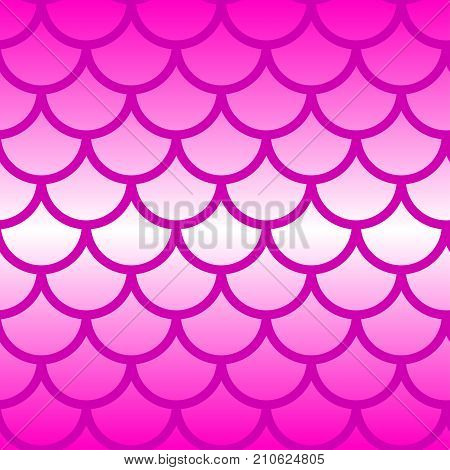 Seamless pattern mermaid tail. Gradient pink fish scales. - Stock vector
