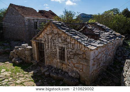 Building In The Ghost Village Of Donja Nakovana