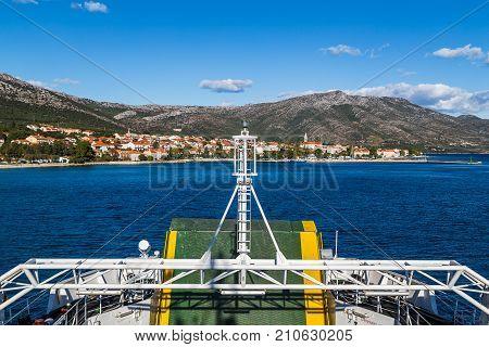 Approaching Orebic On The Croatian Mainland