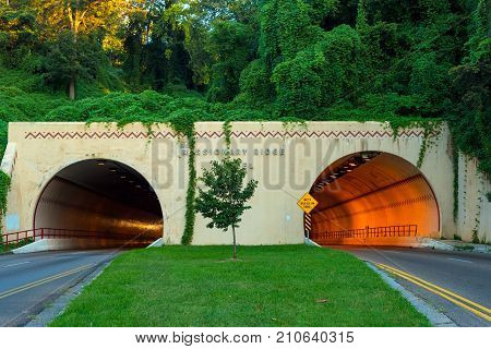 Missionary Ridge tunnel carries traffic on U.S. 64 in and out of Chattanooga Tennessee