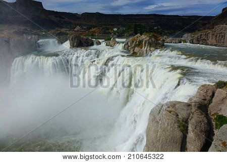 At 212 Feet In Height, Shoshone Falls Of The Snake River Is Taller Than Niagara And Located Near Twi
