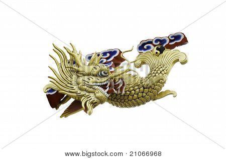 a golden fish dragon