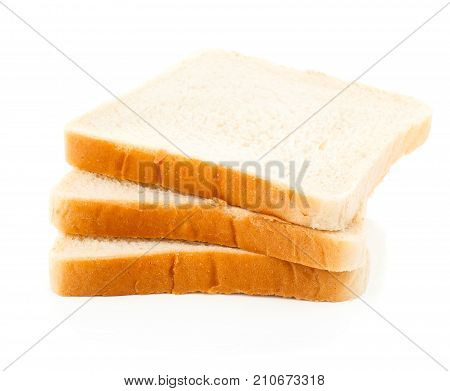 toaster white bread isolated on white background