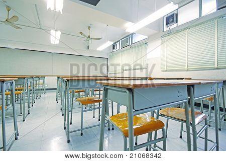 Empty Big Classroom At School