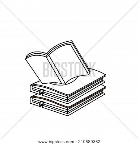 line education notebooks object with notepaper design vector illustration