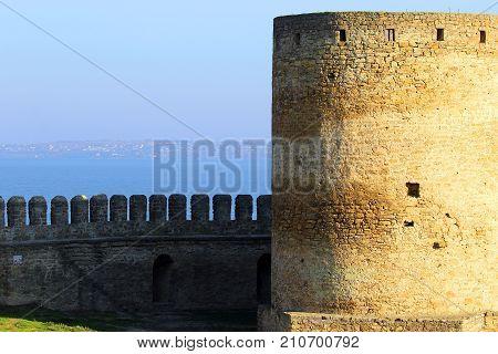 Fortress Akkerman, Belgorod-Dnestrovsky, Ukraine, 2017. Medieval fortress